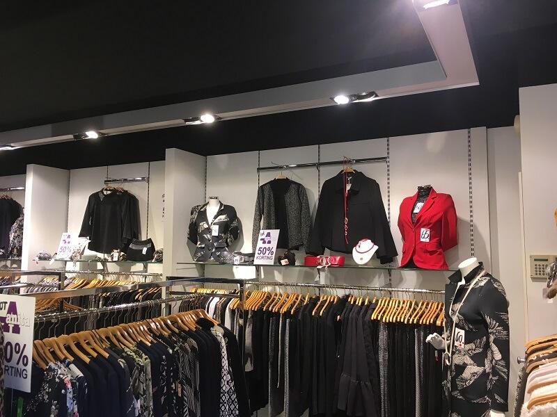 ledverlichting in modewinkel geeft natuurlijk licht
